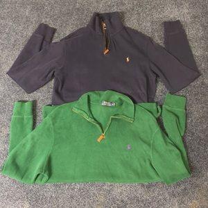 Men's Medium Polo Ralph Lauren 1/4 zip pull overs